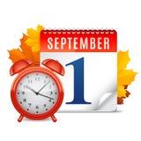 Kalender September-erster Lizenzfreies Stockfoto