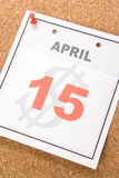 Kalender-Steuer-Tag Lizenzfreies Stockbild