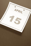 Kalender-Steuer-Tag Stockbild