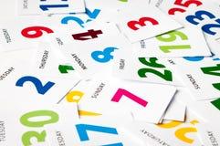 Kalender uit data Stock Afbeelding