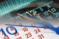 Kalender und Borduhr Lizenzfreie Stockfotos