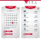 Kalender und Ikonen Lizenzfreie Stockfotografie