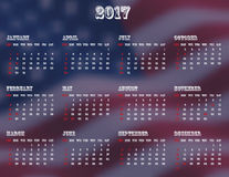 Kalender USA 2017 Stockbilder