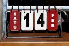 Kalender-Valentinsgruß Lizenzfreies Stockbild
