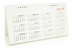 Kalender van 2019 Stock Afbeeldingen