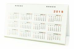 Kalender van 2019 Stock Fotografie