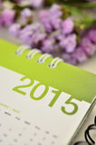 Kalender van 2015 Royalty-vrije Stock Foto's