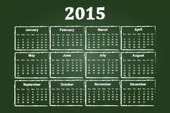 Kalender van Jaar 2015 Royalty-vrije Stock Foto