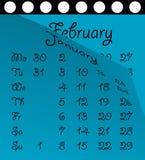 Kalender van twee maanden Stock Foto's