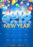 Kalender 2018 Vector royalty-vrije illustratie
