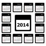 Kalender-Vektor Lizenzfreies Stockfoto