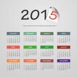 Kalender 2015 - Vektor-Illustrations-Design vektor abbildung