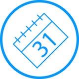 Kalender-Vektor-Linie Ikone Vektor Abbildung