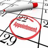 Kalender - Verabredungs-Tag eingekreist für Anzeige Lizenzfreies Stockfoto