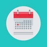 Kalender vlak vectorpictogram Royalty-vrije Stock Foto's
