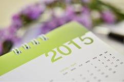 Kalender von 2015 Stockfoto