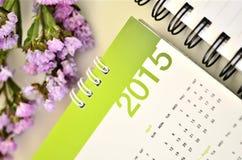 Kalender von 2015 Stockfotografie