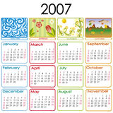 Kalender voor 2007 Stock Foto's