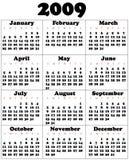 Kalender voor 2009 Royalty-vrije Stock Foto