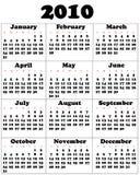 Kalender voor 2010 Royalty-vrije Stock Afbeelding