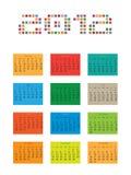 Kalender voor 2012 Royalty-vrije Stock Foto's