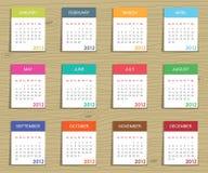 Kalender voor 2012 Royalty-vrije Stock Afbeelding