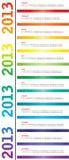 Kalender voor 2013 Stock Foto