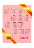 Kalender voor 2014 Stock Afbeeldingen