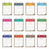 Kalender voor 2014 Stock Fotografie