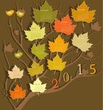 Kalender voor 2015 Stock Foto