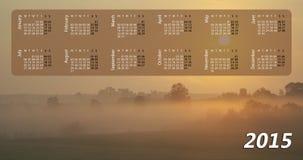 Kalender voor 2015 Stock Afbeeldingen