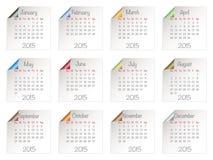 Kalender voor 2015 Royalty-vrije Stock Afbeeldingen