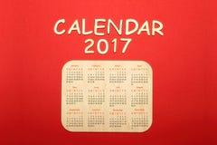 Kalender voor 2017 Stock Foto's