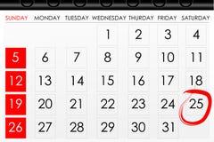 Kalender voor herinnering Stock Afbeeldingen