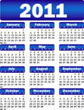 Kalender voor het blauw van 2011 Stock Afbeelding