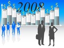 Kalender voor het jaar van 2008 Royalty-vrije Stock Foto