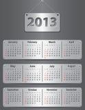Kalender voor het jaar van 2013 Royalty-vrije Stock Afbeeldingen