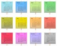 Kalender voor het jaar van 2013 Stock Foto