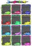 Kalender voor het jaar van 2014 Royalty-vrije Stock Afbeeldingen