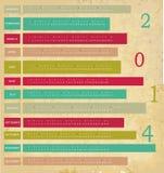 Kalender voor het jaar van 2014 Stock Foto