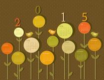 Kalender voor het jaar van 2015 Stock Foto's