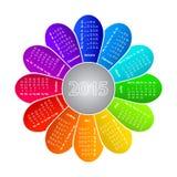 Kalender voor het jaar van 2015 Stock Afbeelding