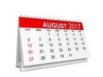 Kalender voor het jaar van 2017 Royalty-vrije Stock Foto