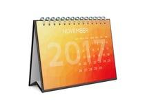 Kalender voor 2017 november Royalty-vrije Stock Afbeeldingen