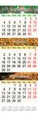 Kalender voor Oktober November en December 2017 met gekleurde beelden Stock Afbeeldingen