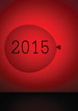 Kalenderabdeckung 2015, rote Ballonzusammenfassung Leicht kundengerechtes t Lizenzfreies Stockbild