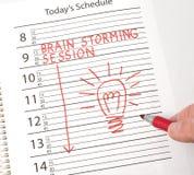 Kalenderanzeigen-Gehirnstürmen Lizenzfreie Stockfotografie