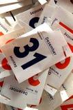 Kalenderblätter stockfotos