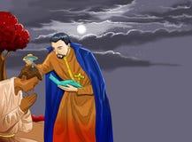 Kalenderchrist idea2 Taufe Santo Sankt lizenzfreie abbildung
