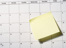kalendercloseup Arkivbilder